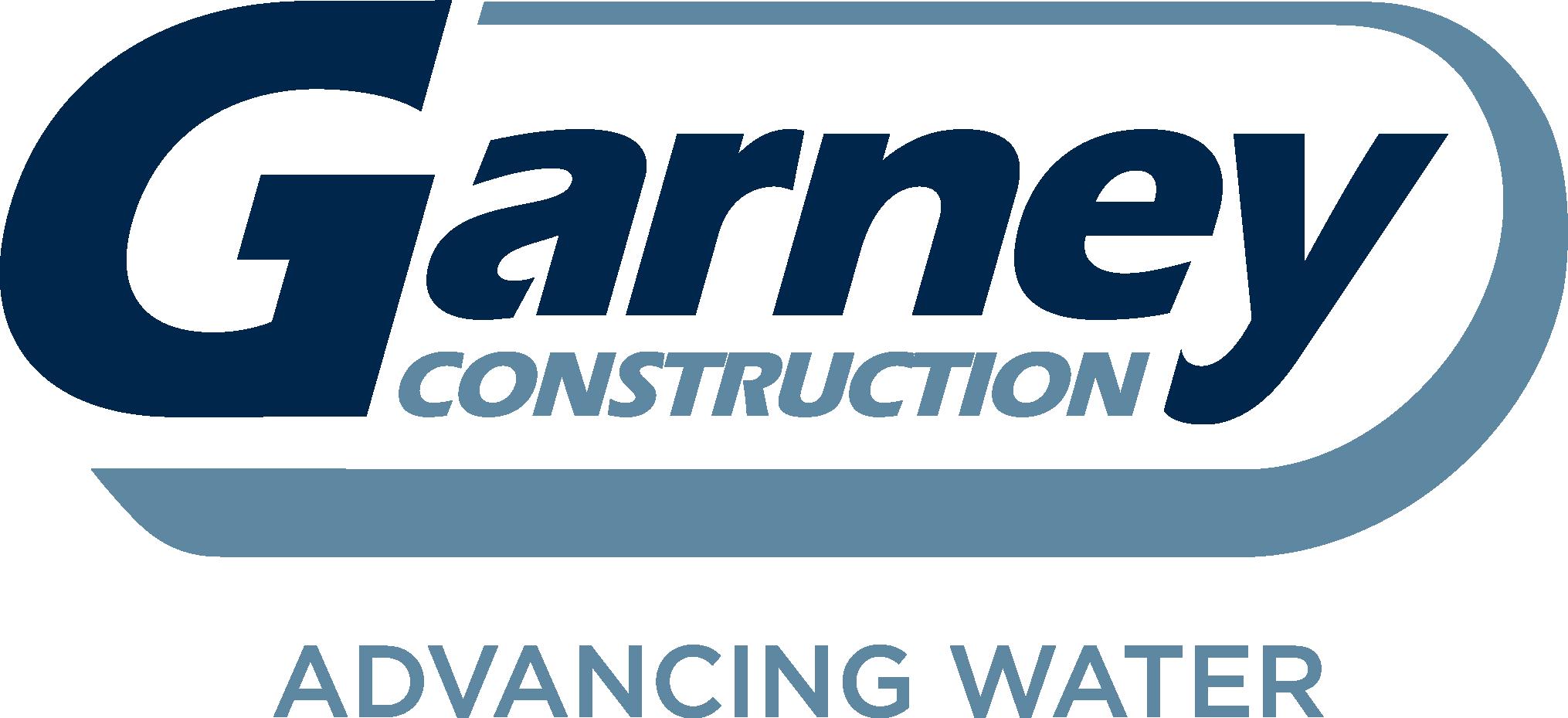 Garney Logo Advancing Water Two Blues-1